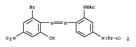 83249-47-2,Acetamide,N-[2-[2-(2-bromo-6-cyano-4-nitrophenyl)diazenyl]-5-(dipropylamino)phenyl]-,Acetamide,N-[2-[(2-bromo-6-cyano-4-nitrophenyl)azo]-5-(dipropylamino)phenyl]- (9CI)