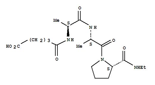 Molecular Structure of 83808-37-1 (L-Prolinamide,N-(4-carboxy-1-oxobutyl)-L-alanyl-L-alanyl-N-ethyl- (9CI))