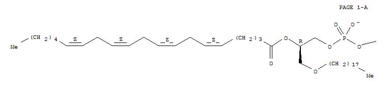 86271-71-8,3,5,8-Trioxa-4-phosphaoctacosa-13,16,19,22-tetraen-1-aminium,4-hydroxy-N,N,N-trimethyl-7-[(octadecyloxy)methyl]-9-oxo-, inner salt, 4-oxide,(7R,13Z,16Z,19Z,22Z)- (9CI),3,5,8-Trioxa-4-phosphaoctacosa-13,16,19,22-tetraen-1-aminium,4-hydroxy-N,N,N-trimethyl-7-[(octadecyloxy)methyl]-9-oxo-, inner salt, 4-oxide,[R-(all-Z)]-