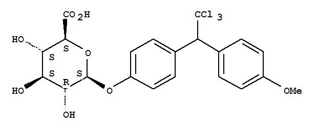 90047-64-6,b-D-Glucopyranosiduronic acid,4-[2,2,2-trichloro-1-(4-methoxyphenyl)ethyl]phenyl,