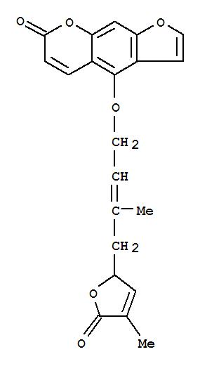 94418-50-5,7H-Furo[3,2-g][1]benzopyran-7-one,4-[[4-(2,5-dihydro-4-methyl-5-oxo-2-furanyl)-3-methyl-2-buten-1-yl]oxy]-, (+)-,7H-Furo[3,2-g][1]benzopyran-7-one,4-[[4-(2,5-dihydro-4-methyl-5-oxo-2-furanyl)-3-methyl-2-butenyl]oxy]-, (+)-(9CI); (+)-Anisolactone; Anisolactone