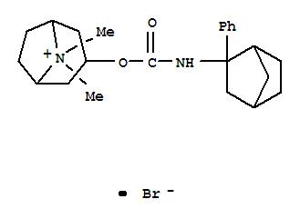 94598-43-3,8-Azoniabicyclo[3.2.1]octane,8,8-dimethyl-3-[[[(2-phenylbicyclo[2.2.1]hept-2-yl)amino]carbonyl]oxy]-,bromide, endo- (9CI),endo-8,8-dimethyl-3-[[[(2-phenylbicyclo[2.2.1]hept-2-yl)amino]carbonyl]oxy]-8-azoniabicyclo[3.2.1]octane bromide