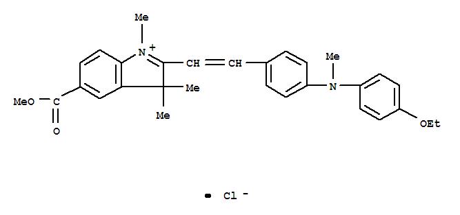 6441-84-5,3H-Indolium,2-[2-[4-[(4-ethoxyphenyl)methylamino]phenyl]ethenyl]-5-(methoxycarbonyl)-1,3,3-trimethyl-,chloride (1:1),3H-Indolium,2-[2-[4-[(4-ethoxyphenyl)methylamino]phenyl]ethenyl]-5-(methoxycarbonyl)-1,3,3-trimethyl-,chloride (9CI); 3H-Indolium,5-carboxy-1,3,3-trimethyl-2-[p-(N-methyl-p-phenetidino)styryl]-, chloride,methyl ester (8CI); Astrazon Violet F 3RL; Astrazone Violet R; Basic Violet 21;C.I. 48030; C.I. Basic Violet 21
