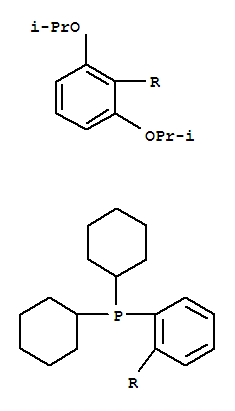 Molecular Structure of 787618-22-8 (Phosphine,[2',6'-bis(1-methylethoxy)[1,1'-biphenyl]-2-yl]dicyclohexyl-)