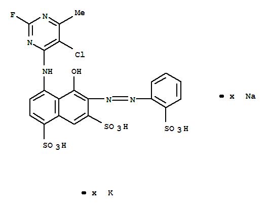 83400-16-2,1,7-Naphthalenedisulfonicacid,4-[(5-chloro-2-fluoro-6-methyl-4-pyrimidinyl)amino]-5-hydroxy-6-[2-(2-sulfophenyl)diazenyl]-,potassium sodium salt (1:?:?),1,7-Naphthalenedisulfonicacid,4-[(5-chloro-2-fluoro-6-methyl-4-pyrimidinyl)amino]-5-hydroxy-6-[(2-sulfophenyl)azo]-,potassium sodium salt (9CI)