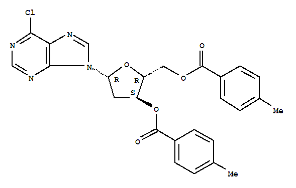 6-CHLORO-9-(3,5-O-DI(P-TOLUOYL)-BETA-D-2-DEOXYRIBOFURANOSYL) PURINE