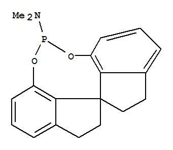 Molecular Structure of 443965-10-4 (Diindeno[7,1-de:1',7'-fg][1,3,2]dioxaphosphocin-5-amine,10,11,12,13-tetrahydro-N,N-dimethyl-, (11aS)- (9CI))