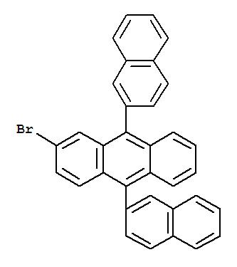 474688-76-1,Anthracene,2-bromo-9,10-di-2-naphthalenyl-,2-Bromo-9,10-bis(2-naphthalenyl)anthracene;