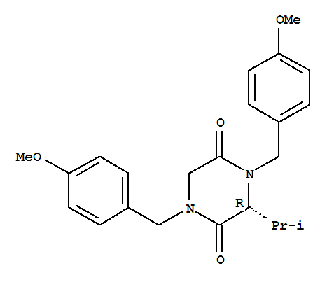 Molecular Structure of 479681-55-5 (2,5-Piperazinedione,1,4-bis[(4-methoxyphenyl)methyl]-3-(1-methylethyl)-, (3R)-)