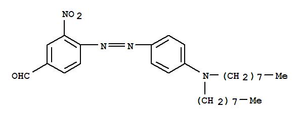 CAS NO:497151-94-7 Benzaldehyde,4-[2-[4-(dioctylamino)phenyl]diazenyl]-3-nitro- Molecular Structure