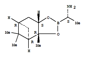 CAS NO:497165-13-6 4,6-Methano-1,3,2-benzodioxaborole-2-methanamine,hexahydro-a,3a,5,5-tetramethyl-, (aS,3aR,4R,6R,7aS)- Molecular Structure