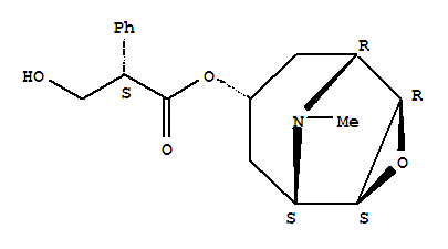 Molecular Structure of 51-34-3 (Benzeneacetic acid, a-(hydroxymethyl)-, (1a,2b,4b,5a,7b)-9-methyl-3-oxa-9-azatricyclo[3.3.1.02,4]non-7-ylester, (aS)-)