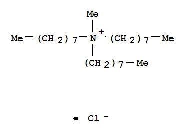Molecular Structure of 5137-55-3 (1-Octanaminium,N-methyl-N,N-dioctyl-, chloride (1:1))