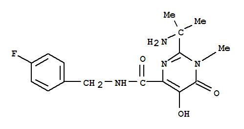 2-(1-Amino-1-methylethyl)-N-(4-fluorobenzyl)-5-hydroxy-1-methyl-6-oxo-1,6-dihydropyrimidine-4-carboxamide(518048-03-8)