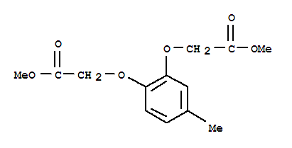 Molecular Structure of 52589-39-6 (Acetic acid,2,2'-[(4-methyl-1,2-phenylene)bis(oxy)]bis-, 1,1'-dimethyl ester)