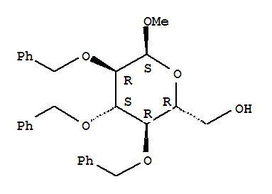 Molecular Structure of 53008-65-4 (a-D-Glucopyranoside, methyl2,3,4-tris-O-(phenylmethyl)-)