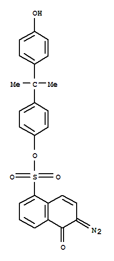 MONOESTER OF 2-DIAZO-1-NAPHTHOL-5-SULFONIC ACID WITH BISPHENOL A