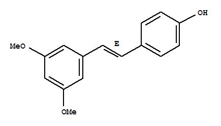 Molecular Structure of 537-42-8 (Phenol,4-[(1E)-2-(3,5-dimethoxyphenyl)ethenyl]-)
