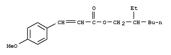 Molecular Structure of 5466-77-3 (2-Propenoic acid,3-(4-methoxyphenyl)-, 2-ethylhexyl ester)