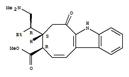 57605-82-0,5H-Cyclooct[b]indole-9-carboxylicacid, 8-[(1R)-1-[(dimethylamino)methyl]propyl]-6,7,8,9-tetrahydro-6-oxo-,methyl ester, (8S,9R)-,5H-Cyclooct[b]indole-9-carboxylicacid, 8-[1-[(dimethylamino)methyl]propyl]-6,7,8,9-tetrahydro-6-oxo-, methylester, [8S-[8a(S*),9b]]-; Dregamine methine (7CI)