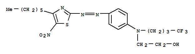 Molecular Structure of 583-37-9 (Ethanol,2-[[4-[2-(4-hexyl-5-nitro-2-thiazolyl)diazenyl]phenyl](4,4,4-trifluorobutyl)amino]-)