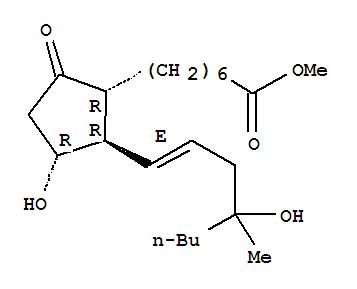 Molecular Structure of 59122-46-2 (Misoprostol)
