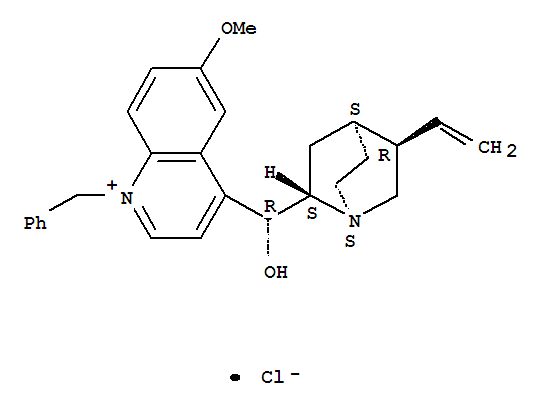 60990-88-7,Cinchonanium,9-hydroxy-6'-methoxy-1'-(phenylmethyl)-, chloride, (8a,9R)- (9CI),(8alpha,9R)-1'-benzyl-9-hydroxy-6'-methoxycinchonanium chloride