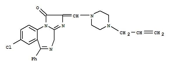 61197-79-3,1H-Imidazo[1,2-a][1,4]benzodiazepin-1-one,8-chloro-2,4-dihydro-6-phenyl-2-[[4-(2-propen-1-yl)-1-piperazinyl]methylene]-,1H-Imidazo[1,2-a][1,4]benzodiazepin-1-one,8-chloro-2,4-dihydro-6-phenyl-2-[[4-(2-propenyl)-1-piperazinyl]methylene]-(9CI)