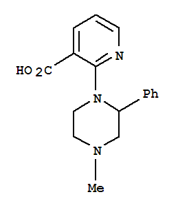 Molecular Structure of 61338-13-4 (1-(3-Carboxypyrid-2-yl)-2-phenyl-4-methyl-piperazine)