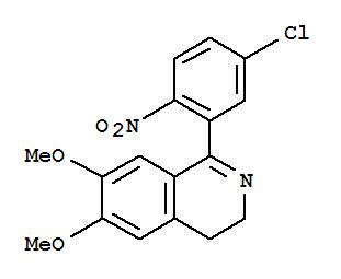 Molecular Structure of 62206-13-7 (Isoquinoline,1-(5-chloro-2-nitrophenyl)-3,4-dihydro-6,7-dimethoxy-)