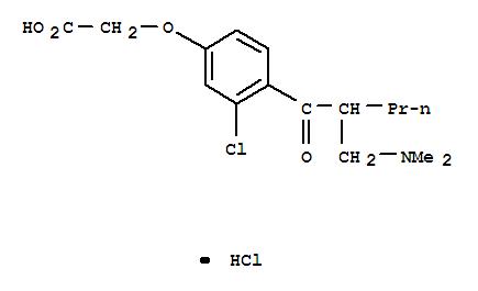 6459-34-3,Aceticacid, 2-[3-chloro-4-[2-[(dimethylamino)methyl]-1-oxopentyl]phenoxy]-,hydrochloride (1:1),