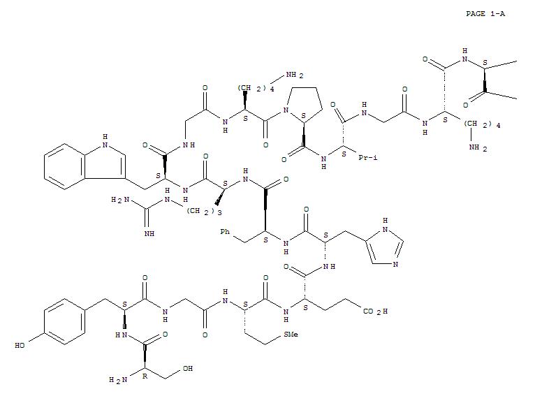 64887-27-0,L-Lysine,D-seryl-L-tyrosylglycyl-L-methionyl-L-a-glutamyl-L-histidyl-L-phenylalanyl-L-arginyl-L-tryptophylglycyl-L-lysyl-L-prolyl-L-valylglycyl-L-lysyl-L-lysyl-L-lysyl-(9CI),a1-18-Corticotropin,1-D-serine-3-glycine-17-L-lysine-18-L-lysine-; Org 2001
