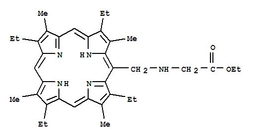 69828-19-9,Glycine,N-[(2,7,12,17-tetraethyl-3,8,13,18-tetramethyl-21H,23H-porphin-5-yl)methyl]-,ethyl ester,