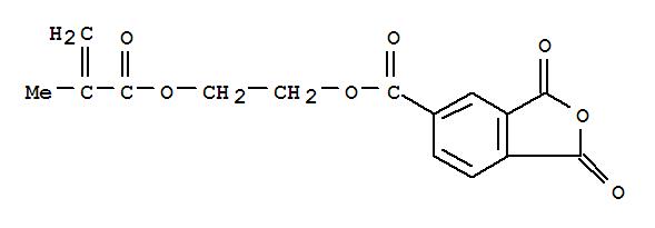 Molecular Structure of 70293-55-9 (5-Isobenzofurancarboxylicacid, 1,3-dihydro-1,3-dioxo-, 2-[(2-methyl-1-oxo-2-propen-1-yl)oxy]ethyl ester)