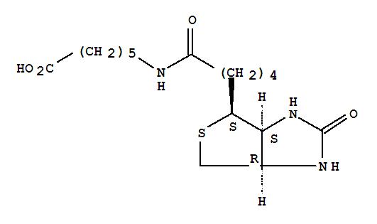 Molecular Structure of 72040-64-3 (Hexanoic acid,6-[[5-[(3aS,4S,6aR)-hexahydro-2-oxo-1H-thieno[3,4-d]imidazol-4-yl]-1-oxopentyl]amino]-)