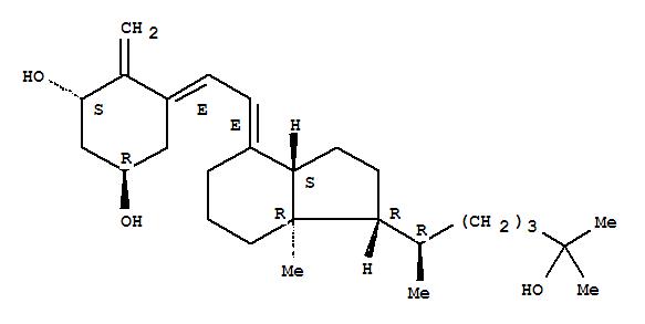 Molecular Structure of 73837-24-8 (1,3-Cyclohexanediol,4-methylene-5-[(2E)-2-[(1R,3aS,7aS)-octahydro-1-[(1R)-5-hydroxy-1,5-dimethylhexyl]-7a-methyl-4H-inden-4-ylidene]ethylidene]-,(1R,3S,5E)-)