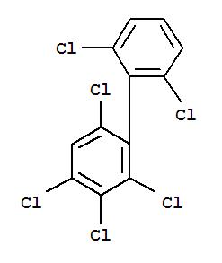 Molecular Structure of 74472-40-5 (1,1'-Biphenyl,2,2',3,4,6,6'-hexachloro-)