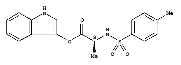 Molecular Structure of 75062-54-3 (N-Tosyl-L-alanine 3-indoxyl ester)