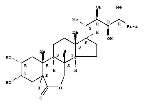 78821-43-9,6H-Benz[c]indeno[5,4-e]oxepin-6-one,1-[(1S,2R,3R,4R)-2,3-dihydroxy-1,4,5-trimethylhexyl]hexadecahydro-8,9-dihydroxy-10a,12a-dimethyl-,(1R,3aS,3bS,6aS,8S,9R,10aR,10bS,12aS)-,Epin;B-Homo-7-oxaergostan-6-one,2,3,22,23-tetrahydroxy-, (2a,3a,5a,22R,23R)-;24(R)-Epibrassinolide;24-Epibrassinolide;24-epi-Brassinolide;22R,23R,24R-2a,3a,22,23-Tetrahydroxy-B-homo-7-oxa-5a-ergostan-6-one;B 1105;BP 55;