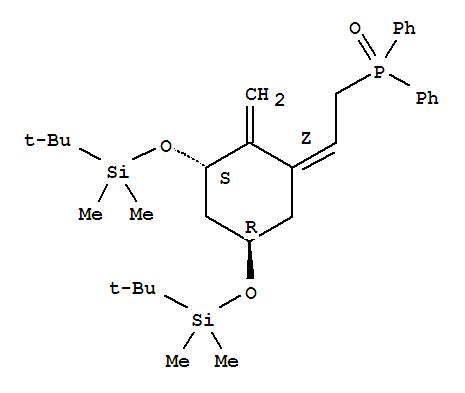 Molecular Structure of 81522-68-1 (Phosphine oxide,[(2Z)-2-[(3S,5R)-3,5-bis[[(1,1-dimethylethyl)dimethylsilyl]oxy]-2-methylenecyclohexylidene]ethyl]diphenyl-)
