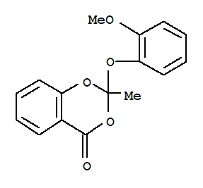 Molecular Structure of 81674-79-5 (4H-1,3-Benzodioxin-4-one,2-(2-methoxyphenoxy)-2-methyl-)