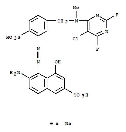 83399-76-2,2-Naphthalenesulfonicacid,6-amino-5-[2-[5-[[(5-chloro-2,6-difluoro-4-pyrimidinyl)methylamino]methyl]-2-sulfophenyl]diazenyl]-4-hydroxy-,sodium salt (1:?),2-Naphthalenesulfonicacid,6-amino-5-[[5-[[(5-chloro-2,6-difluoro-4-pyrimidinyl)methylamino]methyl]-2-sulfophenyl]azo]-4-hydroxy-,sodium salt (9CI)