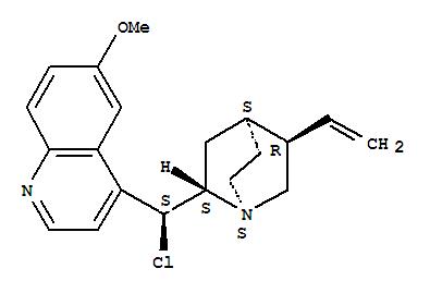 83610-87-1,Cinchonan,9-chloro-6'-methoxy-, (8a,9S)-,(9S)-Chloroquinine;9-Chloro-9-epiquinine; 9-epi-Chloroquinine