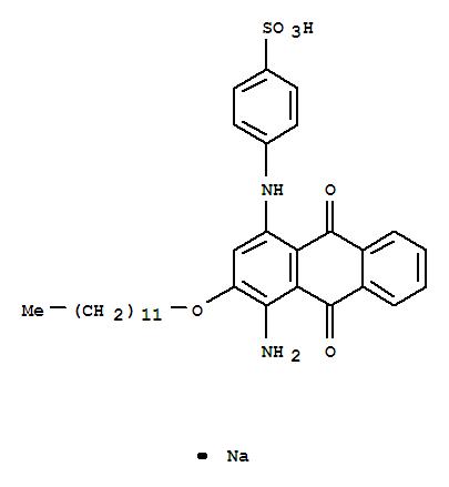 84559-90-0,Benzenesulfonic acid,4-[[4-amino-3-(dodecyloxy)-9,10-dihydro-9,10-dioxo-1-anthracenyl]amino]-,sodium salt (1:1),Benzenesulfonicacid, 4-[[4-amino-3-(dodecyloxy)-9,10-dihydro-9,10-dioxo-1-anthracenyl]amino]-,monosodium salt (9CI)