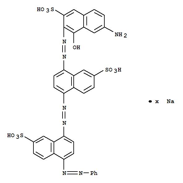 85283-65-4,2-Naphthalenesulfonicacid,8-[2-(7-amino-1-hydroxy-3-sulfo-2-naphthalenyl)diazenyl]-5-[2-[4-(2-phenyldiazenyl)-7-sulfo-1-naphthalenyl]diazenyl]-,sodium salt (1:?),2-Naphthalenesulfonicacid,8-[(7-amino-1-hydroxy-3-sulfo-2-naphthalenyl)azo]-5-[[4-(phenylazo)-7-sulfo-1-naphthalenyl]azo]-,sodium salt (9CI)