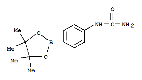 Molecular Structure of 877134-77-5 (Urea,N-[4-(4,4,5,5-tetramethyl-1,3,2-dioxaborolan-2-yl)phenyl]-)
