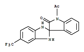 93500-62-0,Spiro[2H-benzimidazole-2,3'-[3H]indol]-2'(1'H)-one,1'-acetyl-1,3-dihydro-5-(trifluoromethyl)-,