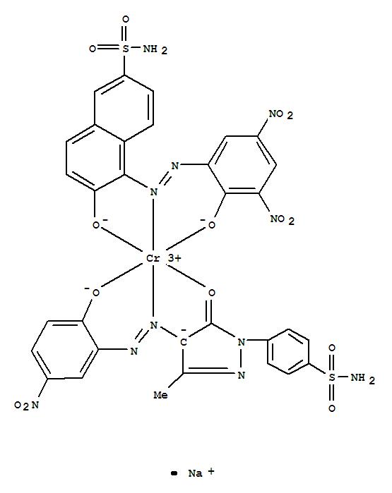 93776-37-5,Chromate(1-),[4-[4,5-dihydro-4-[(2-hydroxy-5-nitrophenyl)azo]-3-methyl-5-oxo-1H-pyrazol-1-yl]benzenesulfonamidato(2-)][6-hydroxy-5-[(2-hydroxy-3,5-dinitrophenyl)azo]-2-naphthalenesulfonamidato(2-)]-,sodium (9CI),2-Naphthalenesulfonamide,6-hydroxy-5-[(2-hydroxy-3,5-dinitrophenyl)azo]-, chromium complex;Benzenesulfonamide,4-[4,5-dihydro-4-[(2-hydroxy-5-nitrophenyl)azo]-3-methyl-5-oxo-1H-pyrazol-1-yl]-,chromium complex