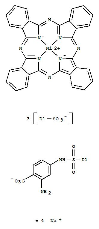 Nickelate(4-),[C-[[(3-amino-4-sulfophenyl)amino]sulfonyl]-29H,31H-phthalocyanine-C,C,C-trisulfonato(6-)-kN29,kN30,kN31,kN32]-, tetrasodium (9CI)