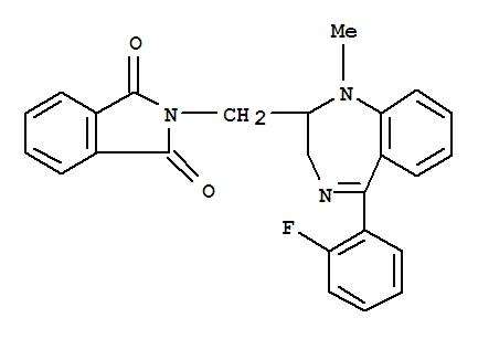 94030-96-3,1H-Isoindole-1,3(2H)-dione,2-[[5-(2-fluorophenyl)-2,3-dihydro-1-methyl-1H-1,4-benzodiazepin-2-yl]methyl]-,1H-1,4-Benzodiazepine,1H-isoindole-1,3(2H)-dione deriv.